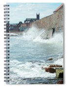 Waves Crashing Against Sea Wall Spiral Notebook