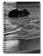Waves From The Cave In Monochrome Spiral Notebook