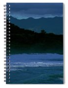 Waves In The Pacific Ocean, Waimea Bay Spiral Notebook