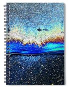 Waves Of Blue Spiral Notebook