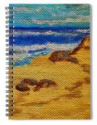 Waves On A Rocky Beach Spiral Notebook