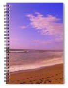 Waves On The Beach, North Beach, Point Spiral Notebook