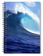 Waves Splashing In The Sea, Maui Spiral Notebook