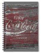 Weathered Coca Cola Sign Spiral Notebook