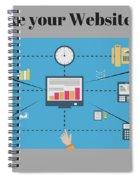 Web Designer Companyin Kolkata Spiral Notebook