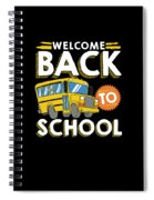 Welcome Back To School Kids School Bus Spiral Notebook