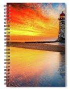 Welsh Lighthouse Sunset Spiral Notebook