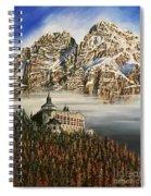 Werfen Austria Castle In The Clouds Spiral Notebook