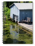Westport Harbour In Southern Ontario Spiral Notebook