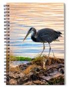 Wheeler Oregon - Great Blue Heron Spiral Notebook