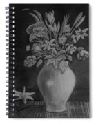 White Bouquet Spiral Notebook