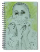 White Lace And Green Eyes Spiral Notebook