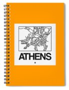 White Map Of Athens Spiral Notebook