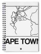 White Map Of Cape Town Spiral Notebook