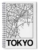 White Map Of Tokyo Spiral Notebook