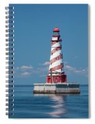 White Shoal Lighthouse 20 Spiral Notebook