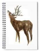 White Tailed Deer Stag With Head Tilted Upwards Spiral Notebook