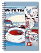White Tea In Blue And White Spiral Notebook