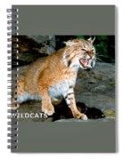 Wildcats Mascot 3 Spiral Notebook