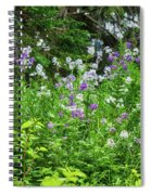 Wildflowers On Green's Hills Spiral Notebook