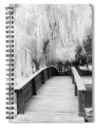 Willow Tree Over The Bridge Spiral Notebook