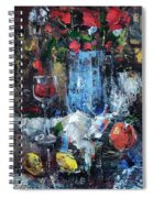 Wine And Fruits Spiral Notebook