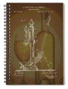 Wine Bottle Corking Patent Spiral Notebook