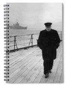 Winston Churchill At Sea Spiral Notebook