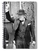 Winston Churchill Showing The V Sign Spiral Notebook