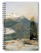 Winter At The Sognefjord - Digital Remastered Edition Spiral Notebook