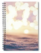 Winter Background With Snow And Fairy Lights. Spiral Notebook