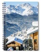Winter Landscape On The Italian Dolomites Spiral Notebook
