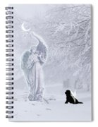 Winter Solstice Holiday Card Spiral Notebook