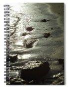 Winter Sun On The Tide Spiral Notebook