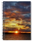 Winter Sunset Over Grand Island Spiral Notebook