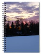 Winter Sunsets Spiral Notebook