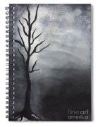 Winter Tree At Night.  Spiral Notebook