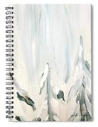 Winter Trees And Sky Spiral Notebook
