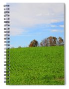 Winter Wheat In October In Southern Ontario Spiral Notebook