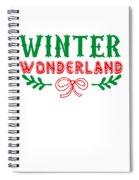 Winter Wonderland Christmas Secret Santa Snowing On Christmas Spiral Notebook