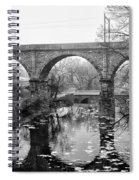 Wissahickon Creek - Reading Viaduct In Black And White Spiral Notebook