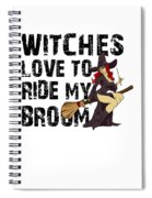 Witch Broom Funny Pun Naughty Halloween For Men Light Spiral Notebook