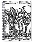 Witches Dancing With The Devil, Illustration From Compendium Maleficarum Spiral Notebook