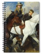 With The York And Ainsty, The Children Of Mr Edward Lycett Green Spiral Notebook