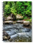 Wolf Creek Falls, New River Gorge, West Virginia Spiral Notebook