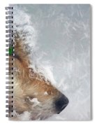 Wolf In The Snowstorm - Painting Spiral Notebook