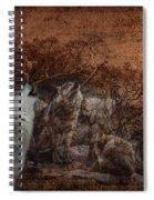 Wolf Moon Spiral Notebook