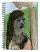 Woman By A Tree Spiral Notebook