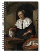 Woman Cleaning Fish Spiral Notebook