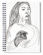 Woman Holding A Hat Spiral Notebook